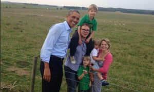 "Barack Obama meets the raffle family at stonehenge Janice raffle ""I squealed like a teenager. You'd think I would know better,"" Janice said"