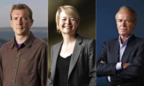 David Mitchell, Sarah Waters and Martin Amis