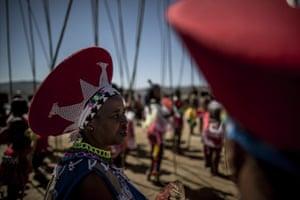 Zulu elders at the reed dance.