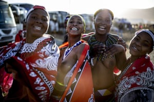 Unmarried and childless women travel from various chiefdoms to attend the annual ceremony.
