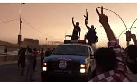 Isis militants in Mosul