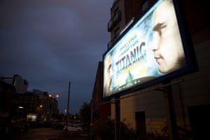 Billboard advertising the Martinez v Frampton fight