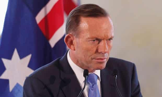 Tony Abbott has stared down questions from within the government about how he will deal with perceived broken election promises.