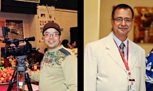 Ghimire Gundev (l) and Krishna Upadhyaya, are being questioned for alleged illegal activity in Qatar