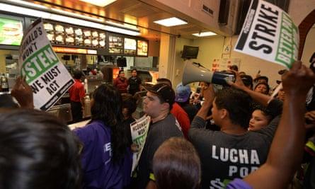 US Money McDonalds fast food protest