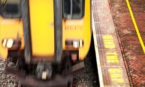 A Northern Rail train near Blackpool