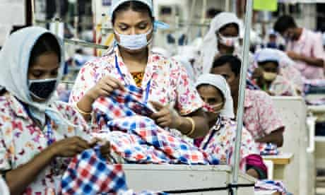 Garment factory workers near Dhaka