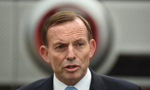 Tony Abbott speaks to the media in Queanbeyan on Monday.