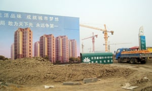 Housing under construction near the port city of Tianjin in northeastern China.