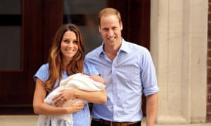 Duke and Duchess of Cambridge with their newborn  son, Prince George of Cambridge.