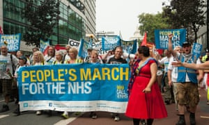 NHS protest against privatisation