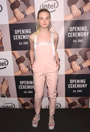 Elle Fanning, one of the stars of Spike Jone's Opening Ceremony play