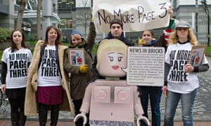 Protest to ban Page 3 girls from The Sun newspaper, London, Britain, London - 26 Feb 2013