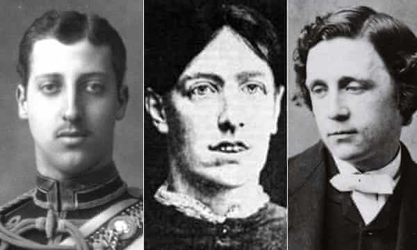 From left, Prince Albert, Mary Pearcey and Lewis Carroll.