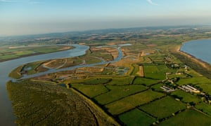 Aerial view Steart Marshes
