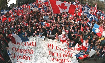 Canadians rally in Montreal in 1995