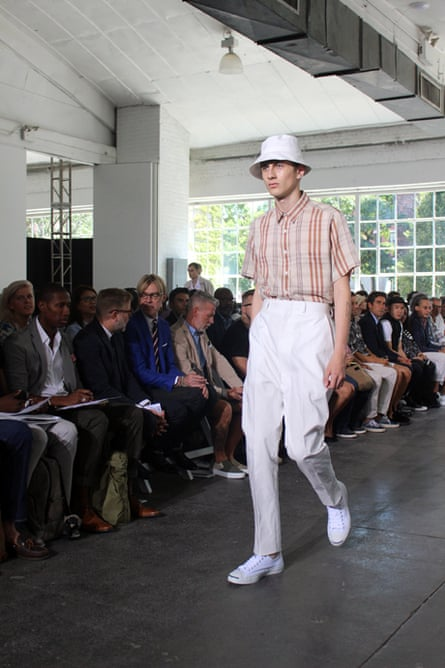 The bucket hat at Duckie Brown fused elder chic with The Stone Roses.