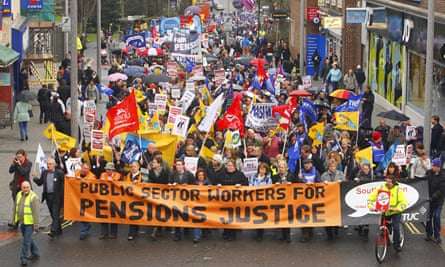 Public sector workers from multiple unions including the GMB, Unite and Unison