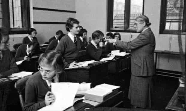 A classroom scene from Cheltenham Ladies' College, 1954