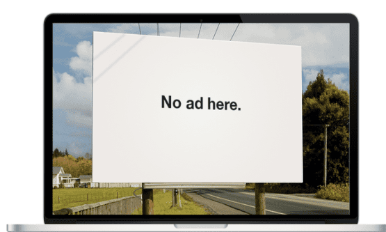 An ad campaign by Adblock.