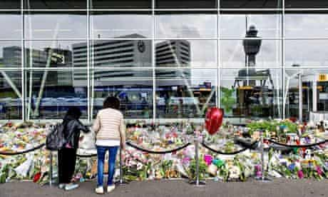 Mourning for MH17 victims at Schiphol Airport in Amsterdam