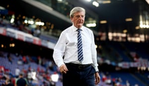 Roy Hodgson walks into the stadium in Basel just over an hour before kick-off. He was manager of Switzerland from 1992 to 1995 and led them to the World Cup in the United States in 1994