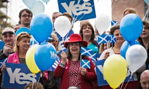 Yes supporters in Glasgow