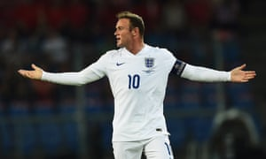 Rooney has had a couple of good chances but the score remains goalless after half an hour.