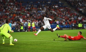 Into the second half, Danny Welbeck slots the ball home after a fine cross from Sterling.