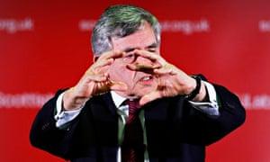 Gordon Brown speaking at Loanhead miners' club on the Scottish Referendum