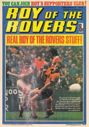 With the phrase 'Real Roy of the Rovers stuff' entering into the footballing lexicon, even the comic itself started referencing the popular phrase. In this instance it's the ferocious Roy Race-esque shot by Bristol City's Don Gillies that has got the headline writers excited.