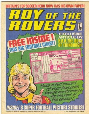 Such was the popularity of Roy of the Rovers in Tiger that Roy Race was given his own comic, the first issue of which came out in September 1976.