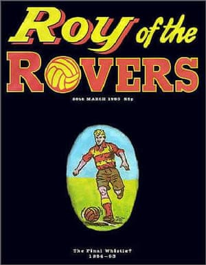 The last issue of the weekly Roy of the Rovers comic in March 1993.