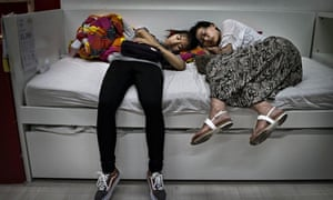 Chinese shoppers in Ikea