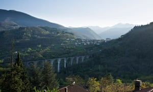 Railway bridge Tuscany Italy