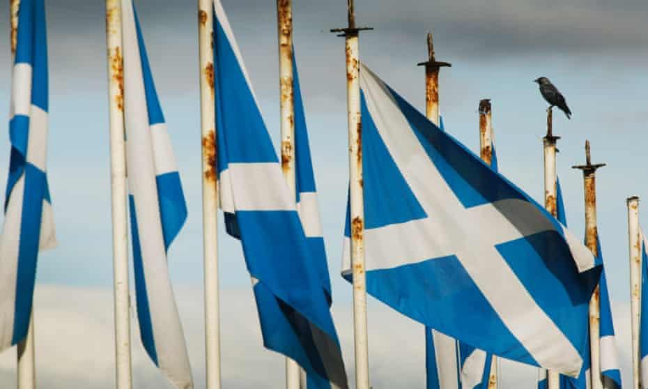 Scottish saltires.