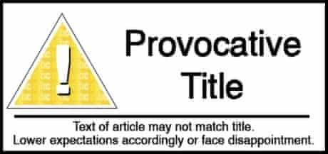 Provocative Title Science Classification