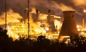 The Grangemouth oil refinery.