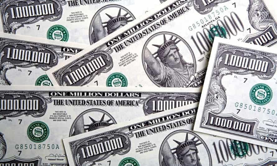 One million US dollar banknotes