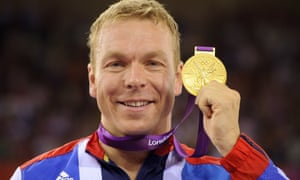 Sir Chris Hoy with his London 2012 gold medal for the keirin.