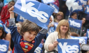 Four-year-old Danny Barbieri says yes to Scottish independence.
