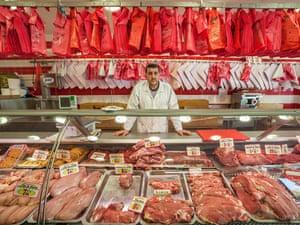 Rachid the butcher in Paris, France.