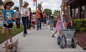 Families joining the HighWaterLine project in Miami, Florida