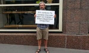 Russians protest Ukraine