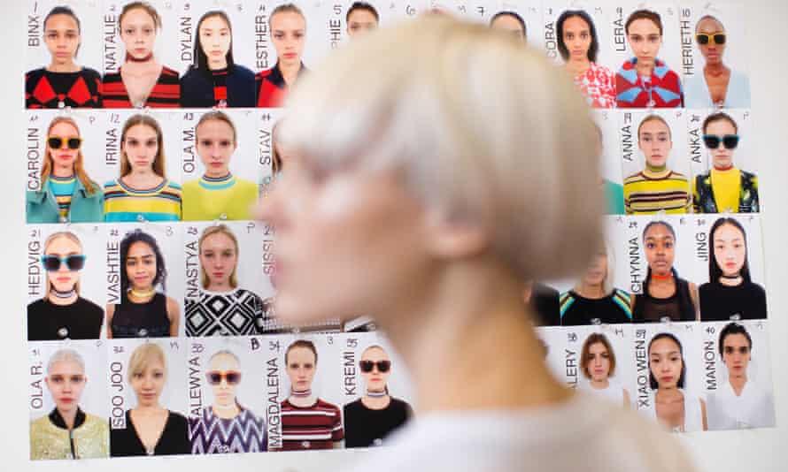 fashion week model look board
