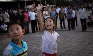 North Korean children in Pyongyang, North Korea. (AP Photo/Wong Maye-E)