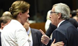 Alenka Bratusek and Jean-Claude Juncker