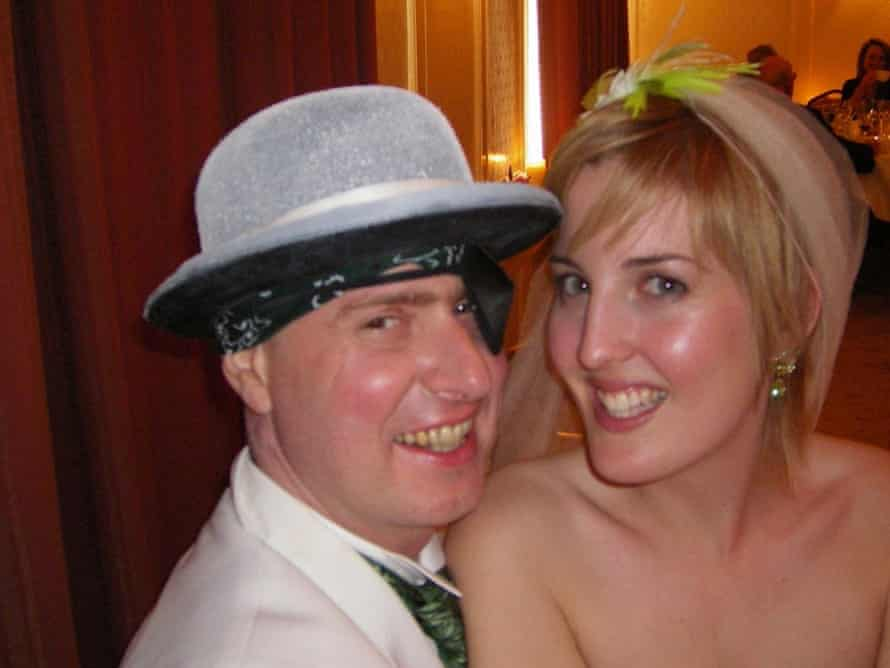 Amy Molloy with her late husband, Eoghan, on their wedding day.