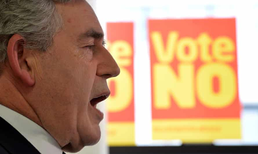 Gordon Brown addresses media