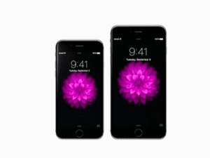 The iPhone 6 and iPhone 6 Plus.